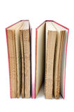 Two Old red book. On white background Royalty Free Stock Images