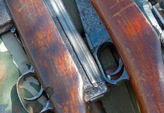 Two old rifle Stock Photography