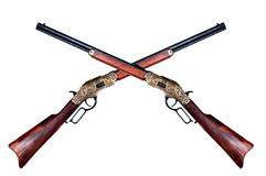Two old rifles winchester Royalty Free Stock Images