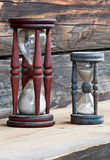 Two old sand clocks Royalty Free Stock Images