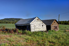 Two old sheds. Stock Photo