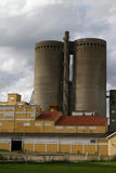 Two old silos Stock Photos