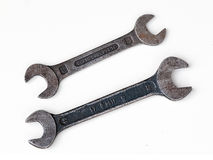 Two old spanners Stock Images
