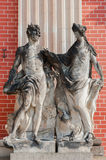 Two old statue in Sanssouci park in Potsdam Royalty Free Stock Image