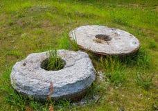 Two old stone millstone Royalty Free Stock Photo