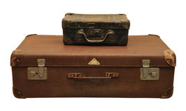 Two old suitcase stock photos