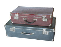 Two old suitcases. Royalty Free Stock Image