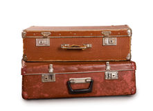 Two old suitcases. Royalty Free Stock Photo