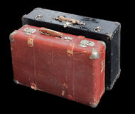 Two Old Suitcases Stock Images