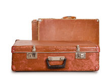 Two old suitcases. Stock Image