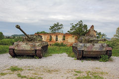 Two old tank Royalty Free Stock Photography