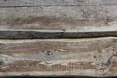 Two old textured boards horozontal background Stock Photos