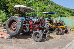 Two old tractors Royalty Free Stock Photo