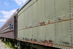 Two Old Train Cars Stock Photo