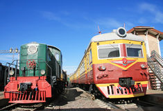Two Old Train Stock Photos