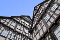 Two old typical half-timbered houses. Royalty Free Stock Image
