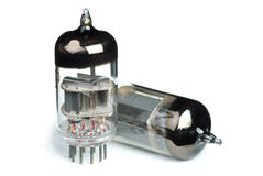 Two old vacuum tubes Royalty Free Stock Image