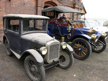 Two old vintage cars Royalty Free Stock Photos