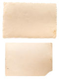 Two old vintage photo papers Stock Photo
