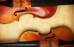 Two old violin Royalty Free Stock Photography