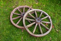 Two old wheel Royalty Free Stock Image