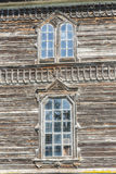 Detail of orthodoxy church in Pobirka - Ukraine, E. Two old window. Detail of orthodoxy church in Pobirka near Uman - Ukraine, Europe Royalty Free Stock Images