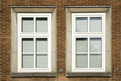 Two old windows Stock Photo