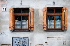 Two old windows Stock Photography
