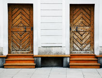 Two old wooden doors Royalty Free Stock Images