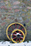 Two old wooden wagon wheel Royalty Free Stock Photos
