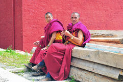 Two older monks Royalty Free Stock Photo