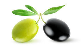 Two olives Royalty Free Stock Images