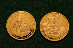 Two One-half Ounce Pure Gold Coins Stock Photos