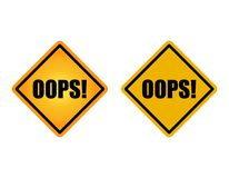 Two Oops sign with different style. Oops sign on white background with different style Royalty Free Stock Photography