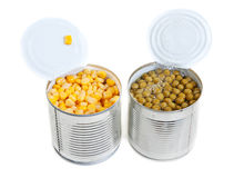 Two open Aluminium cans Stock Photography