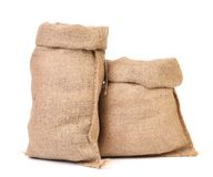 Two open bags from a sacking Stock Photography