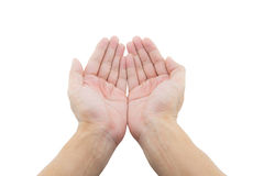 Two open empty hands with palms up Stock Photography