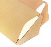 Two open envelopes Stock Photos