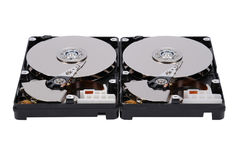 Two open HDD Stock Image