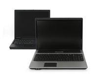 Two open laptops Royalty Free Stock Photos