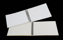 Two open notebook. Royalty Free Stock Photography