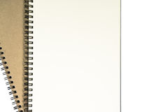 Two open notebook with white page. Two open notebook with white page on white background stock photography