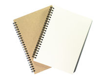 Two open notebook with white page on white background. Two open notebook with white color on white background royalty free stock images