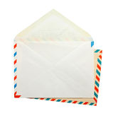 Two open vintage envelopes Royalty Free Stock Image