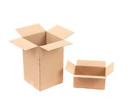 Two opened cardboard boxes. Stock Images