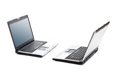 Two opened laptops Stock Images