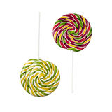 Two opposite lollipops Royalty Free Stock Images