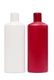 Two opposite plastic bottles Stock Photos