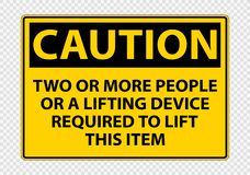 Free Two Or More People Or A Lifting Device Required To Lift This Item Symbol Sign Isolate On Transparent Background,Vector Stock Images - 160999474