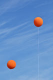Two Orange Balloons Stock Photography